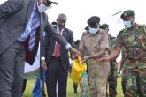 Dignitaries during the UoN tree planting ceremony